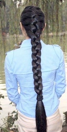 Single Braids Hairstyles, Indian Hairstyles, Hairstyle Men, Formal Hairstyles, Funky Hairstyles, Wedding Hairstyles, Really Long Hair, Super Long Hair, Beautiful Long Hair