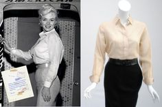 2011 Erno Laszlo Marilyn Monroe Exhibit in NYC: Marilyn Monroe's blouse with original vintage press; Modugno, 20th Century Fox Corporation, Ted Stampfer / Courtesy Collection of Ted Stampfer, BRENTWOOD GmbH