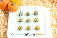 This is a fun after school snack on Halloween (especially after those class parties!)