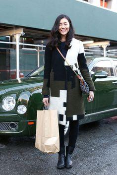 New York Fashion Week Street Style Fall 2013. Liu Wen