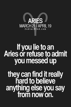 Zodiac Mind - Your source for Zodiac Facts Aries Zodiac Facts, Aries And Pisces, Aries Love, Aries Astrology, Aries Quotes, Aries Sign, Aries Horoscope, Zodiac Mind, Life Quotes