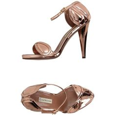 L' Autre Chose Sandals ($255) ❤ liked on Polyvore featuring shoes, sandals, copper, ankle strap sandals, ankle wrap sandals, leather ankle wrap sandals, ankle strap shoes and leather ankle strap sandals