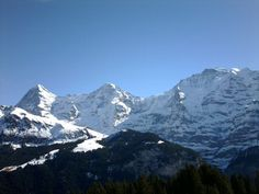 The Eiger, Munch and Jungfrau in winter - The alps - Switzerland