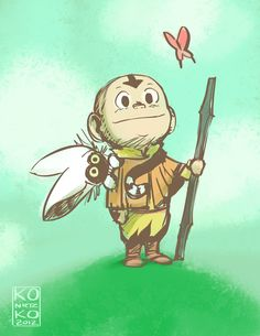 Avatar the Last Airbender: Aang by bryan konietzko