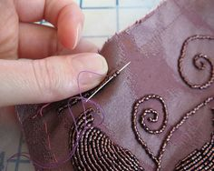 Transferring a Beading Pattern to Fabric:  A Tutorial by vintage laura, via Flickr