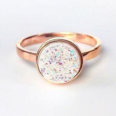 Rose Gold Druzy Ring ♥️ www.indieandharper.com