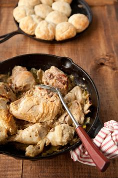 Paula Deen Smothered Chicken and Biscuits
