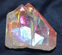 Angel Aura Quartz Cluster 2 x 2 inches Color Quartz, Opal Color, Quartz Cluster, Quartz Crystal, Steven Universe Characters, Crystal Castle, Angel Aura Quartz, Rocks And Minerals, Stones And Crystals