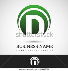 Letter D logo icon design template elements on green circle  - stock vector
