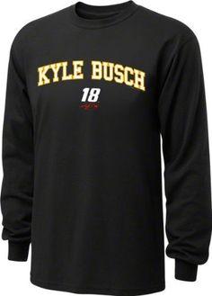 Kyle Busch #18 M's Restrictor Long Sleeve T-Shirt by Checkered Flag. $25.99. Kyle Busch #18 M's Restrictor Long Sleeve T-Shirt