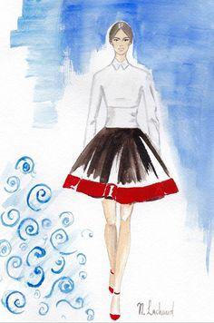 Valentino fashion sketch