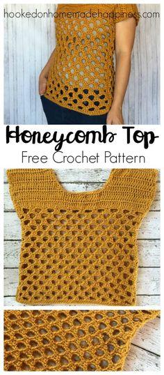 Honeycomb Crochet Top - Hooked on Homemade Happiness