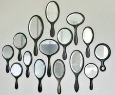 A Collection of Vintage Hand Mirrors