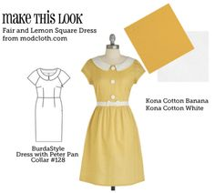 (via MTL: Fair and Lemon Square Dress - The Sew Weekly Sewing Blog & Vintage Fashion Community)