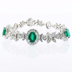 Oval Emerald Bracelet