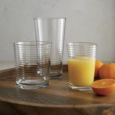 Rings Juice Glass | Crate and Barrel