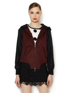 Toniece Faux Leather Sleeve Jacket by DV by Dolce Vita at Gilt
