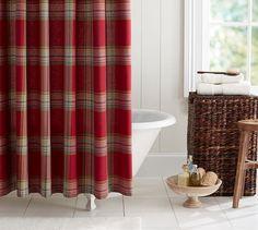 Blake Plaid Shower Curtain   Pottery Barn
