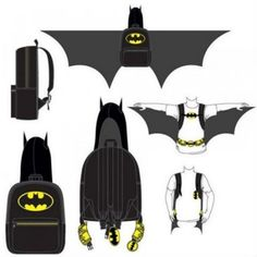 Hooded Batman Backpack With Wings!