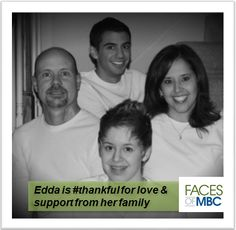 Edda is #thankful for love and support from her family.