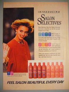 helene curtis salon selectives shampoo -smelled like apples