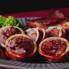 You'll feel stuffed after enjoying this Japanese dish of squid stuffed with sticky rice and adzuki beans.