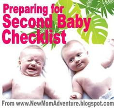 Checklist to Prepare for Second Baby.  I think registering for a second baby is a little silly, but I admit I did it--more as a checklist for myself since baby 2 is opposite sex of baby 1