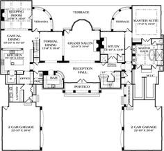 print this floor plan all plans english manor house House Plans Mansion, Luxury House Plans, Dream House Plans, House Floor Plans, Dream Houses, European Plan, European House Plans, European Style, English Manor Houses