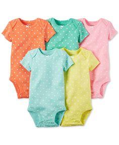 Carter's Baby Girls' 5-Pack Dot-Print Bodysuits