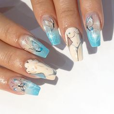 29 fashion & beauty tips lovely nail art ideas 23 Aycrlic Nails, Cute Nails, Pretty Nails, Hair And Nails, Garra, Hippie Nails, Anime Nails, Nail Pops, Best Acrylic Nails