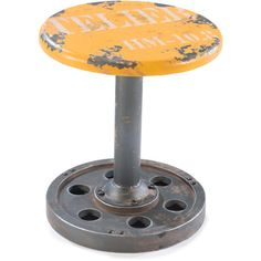 @Overstock - Peterson Wood/ Metal Stool - Extra seating takes a decidedly industrial turn with this Peterson stool, a contemporary take on classic seating. The lightweight stool comes in your choice of four fun color schemes and adds an edgy look to your home decor.  http://www.overstock.com/Home-Garden/Peterson-Wood-Metal-Stool/9499114/product.html?CID=214117 $127.99