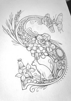 'S' is for Spring - editorial commission for US 'Backpacker Magazine'. Calligraphy Letters, Typography Letters, Islamic Calligraphy, Creative Lettering, Hand Lettering, Tattoo Lettering Fonts, Illuminated Letters, Letter Art, Colouring Pages