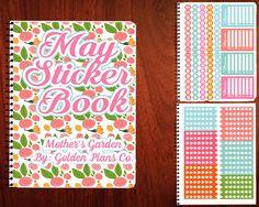 Thank You For Shopping At Golden Plans Co. May Edition Sticker Book| Erin Condren Sticker Book| Planner Sticker Book | Affordable Planner Stickers