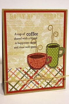Stamper's First Aid - Coffee Card by Heather Nichols for Papertrey Ink (July 2012)