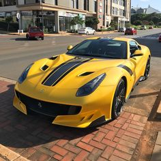 Just look at this thing  Epic spot of the yellow F12tdf down in Umhlanga by @seshanchettiar  #ExoticSpotSA #Zero2Turbo #SouthAfrica #Ferrari #F12tdf #Umhlanga