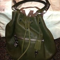 I just discovered this while shopping on Poshmark: Additional pics of Michael Kors Drawstring  Shldr. Check it out! Price: $100 Size: OS, listed by alegirl