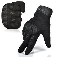 FREETOO® Mens Tactical Gloves Hard Knuckle Full Finger Adjustable Outdoor Sport/Fitness Black L - http://ridingjerseys.com/freetoo-mens-tactical-gloves-hard-knuckle-full-finger-adjustable-outdoor-sportfitness-black-l/