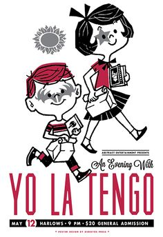Yo La Tengo gig poster by Asbestos Press