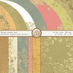 Digital Download  Grunge Garden Gold  14 by SweetHarmonyPhoto