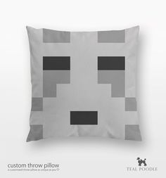 Minecraft Ghast Throw Pillow - Mine Craft on Etsy, $36.00