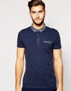 BOSS Orange Polo Shirt with Contrast Collar