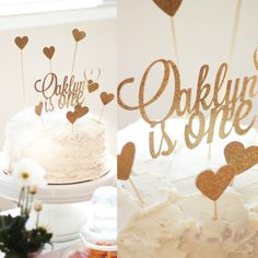 Oaklyn Joy's First Birthday Party: Pink and Gold Birthday Party | First birthday cake