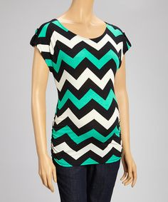 Another great find on #zulily! Jade Zigzag Maternity Cap-Sleeve Top - Women by QT Maternity #zulilyfinds