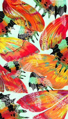 Vivid colours to convey the hidden beauty found within insects. Pattern Textiles – London, Becky Webberley