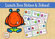 Printable Lunch Box Notes, Lunch Box Cards, Kids Lunchbox Jokes, Printable Lunch Notes, Lunch Notes, Lunch Jokes Learning Resources, Teaching Tools, Teacher Resources, Teaching Ideas, Abc Tracing, Name Tracing Worksheets, Number Posters, Word Bingo, Kindergarten Blogs