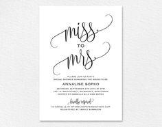 Printable Bridal Shower Invitations You Can Diy  Bridal