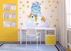 Enhörningar - Brett utbud av dekorativa produkter, Väggdekor och Wallstickers Barnrum, Väggdekoration Barn, Väggdekaler. Det roliga sättet att Dekorera på!