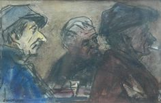 Cornelis Jan 'Bob' ten Hoope (Bussum 1920 - 2014) Café Brun, Pont-en-Royans (Isère, France) - Dutch Art Gallery Simonis and Buunk Ede, Netherlands.