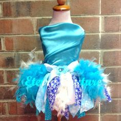 Frozen Tutu Snow Queen Elsa Inspired Feather by EterraCouture