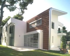 casa moderna con original techo